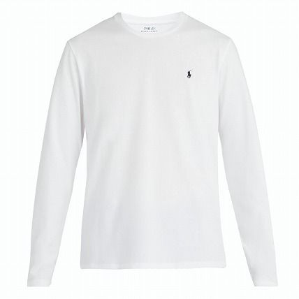 5f5a0be6 ... POLO RALPH LAUREN Long Sleeve Crew Neck Long Sleeves Plain Cotton Long  Sleeve T-Shirts ...