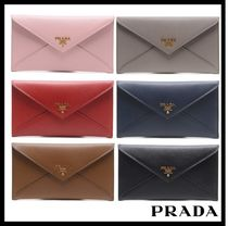 PRADA Street Style Long Wallets