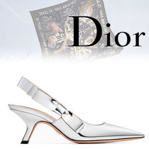 Christian Dior Leather Pin Heels Heeled Sandals