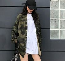 Camouflage Casual Style Street Style Long Sleeves Medium