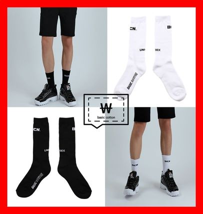 Unisex Street Style Cotton Socks & Tights