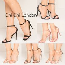 Chi Chi London Open Toe Pin Heels Party Style Shoes