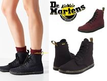 Dr Martens Round Toe Rubber Sole Casual Style Street Style Plain