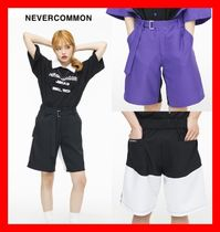 NEVERCOMMON Casual Style Unisex Street Style Shorts