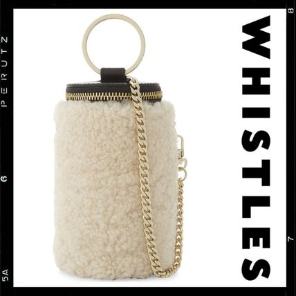 Casual Style 2WAY Bi-color Chain Leather Shoulder Bags