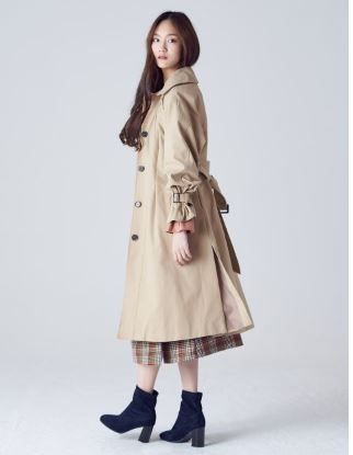 Casual Style Plain Long Oversized Trench Coats