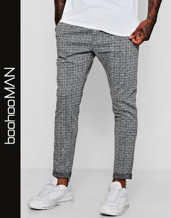 Other Check Patterns Street Style Joggers & Sweatpants