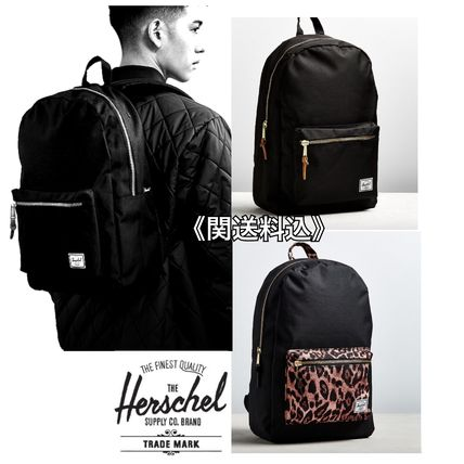 Leopard Patterns Casual Style Plain Backpacks