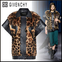 GIVENCHY Leopard Patterns Blended Fabrics Leather Medium