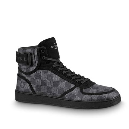 Louis Vuitton Sneakers Other Check Patterns Blended Fabrics Street Style Bi-color 2