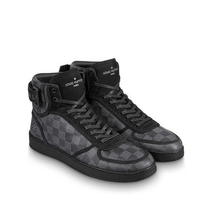 Louis Vuitton Sneakers Other Check Patterns Blended Fabrics Street Style Bi-color 3