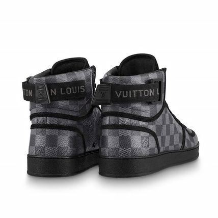 Louis Vuitton Sneakers Other Check Patterns Blended Fabrics Street Style Bi-color 4