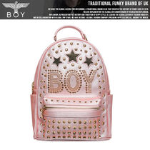 BOY LONDON Casual Style Faux Fur Studded Vanity Bags Backpacks