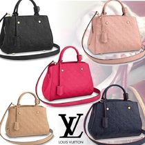 Louis Vuitton MONOGRAM EMPREINTE Monogram Leather Office Style Totes