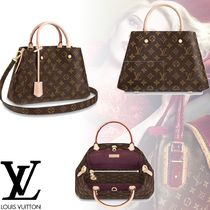 Louis Vuitton MONOGRAM Monogram 2WAY Leather Office Style Totes