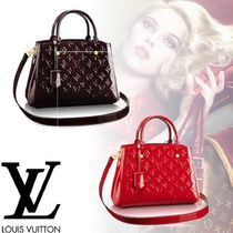 Louis Vuitton MONOGRAM VERNIS Monogram 2WAY Leather Office Style Totes