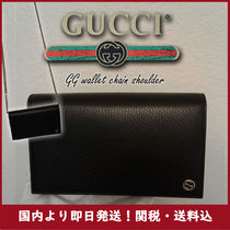 GUCCI 2WAY Plain Leather Elegant Style Shoulder Bags