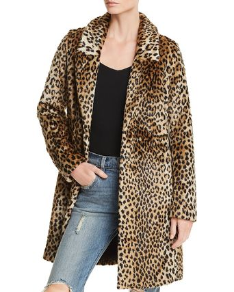 Leopard Patterns Casual Style Long Jackets