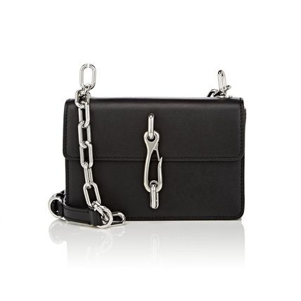 Chain Leather Elegant Style Shoulder Bags