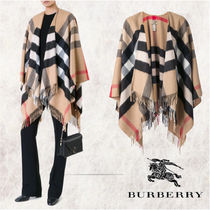 Burberry Other Check Patterns Cashmere Ponchos & Capes