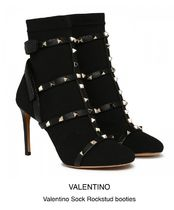 VALENTINO Pin Heels Elegant Style Over-the-Knee Boots