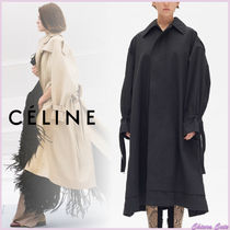 CELINE Plain Long Elegant Style Coats