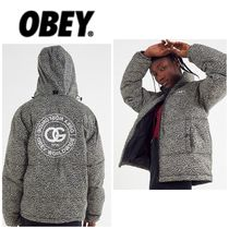 OBEY Leopard Patterns Casual Style Street Style Medium Jackets
