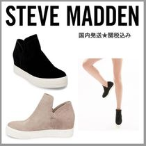 Steve Madden Wedge Suede Plain Platform & Wedge Sneakers