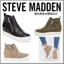 Steve Madden Wedge Casual Style Suede Plain Platform & Wedge Sneakers