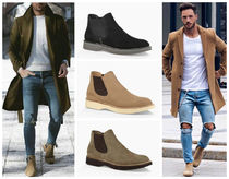 UGG Australia Suede Blended Fabrics Plain Chelsea Boots Boots