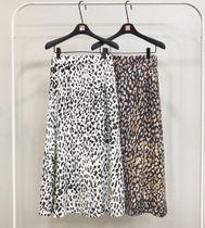 Flared Skirts Leopard Patterns Casual Style Street Style