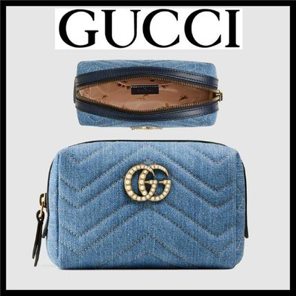 bee9b9556 ... GUCCI Pouches & Cosmetic Bags Cambus Plain With Jewels Pouches &  Cosmetic ...