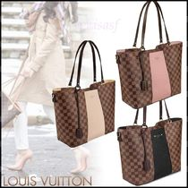 Louis Vuitton DAMIER Other Check Patterns Canvas Blended Fabrics A4 2WAY Bi-color