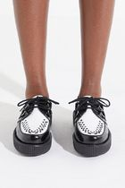 TUK Round Toe Rubber Sole Casual Style Street Style Plain