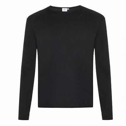 Crew Neck Long Sleeves Plain Cotton Long Sleeve T-Shirts