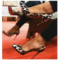Christian Louboutin So Kate Leopard Patterns Blended Fabrics Leather Pin Heels