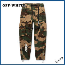 Off-White Camouflage Cotton Cargo Pants