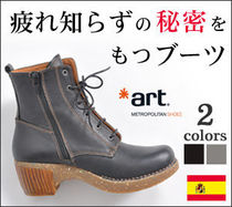 Platform Round Toe Lace-up Casual Style Leather