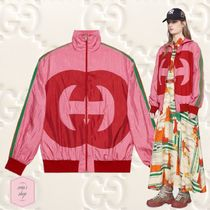 GUCCI Short Casual Style Blended Fabrics Plain Varsity Jackets