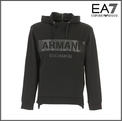 EMPORIO ARMANI Hoodies Street Style Long Sleeves Plain Cotton Hoodies 2
