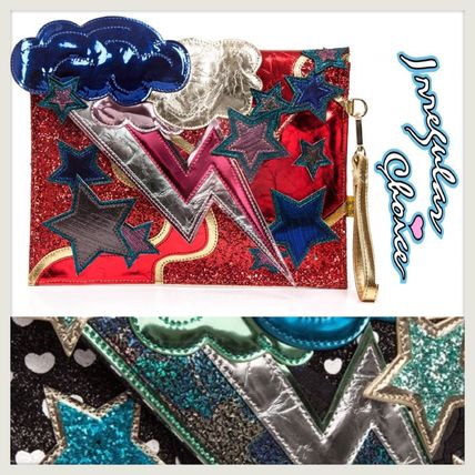 Heart Star Unisex Street Style 3WAY Party Style Clutches