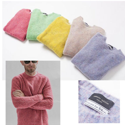Ron Herman Knits & Sweaters Crew Neck Wool Long Sleeves Plain Knits & Sweaters