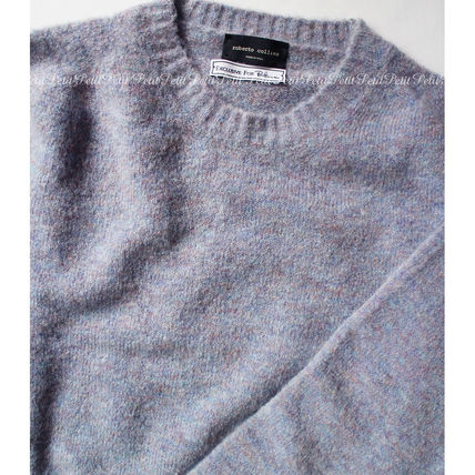 Ron Herman Knits & Sweaters Crew Neck Wool Long Sleeves Plain Knits & Sweaters 2