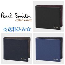 Paul Smith Bi-color Plain Leather Folding Wallets