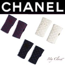CHANEL Other Check Patterns Cashmere Plain Handmade Elegant Style