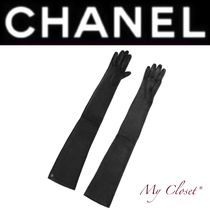 CHANEL Plain Leather Handmade Elegant Style
