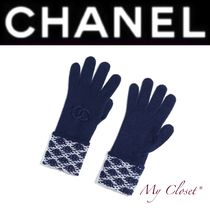 CHANEL Other Check Patterns Casual Style Cashmere Street Style