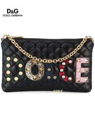 Studded Chain Plain Folding Wallets