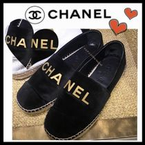CHANEL SPORTS Casual Style Unisex Velvet Plain Low-Top Sneakers