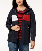 Tommy Hilfiger Stripes Casual Style Street Style Medium Outerwear